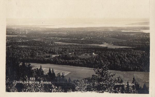 Utsikt fra Kolsås Bærum