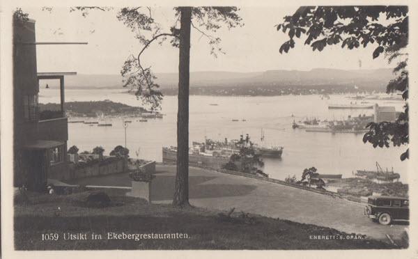 Utsikt fra Ekebergrestauranten.