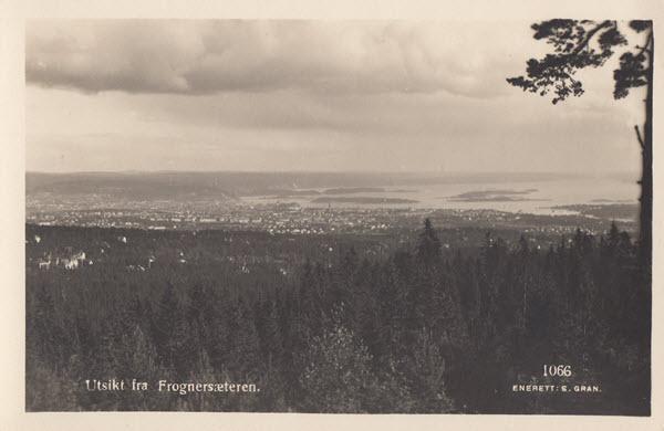 Utsikt fra Frognersæteren.