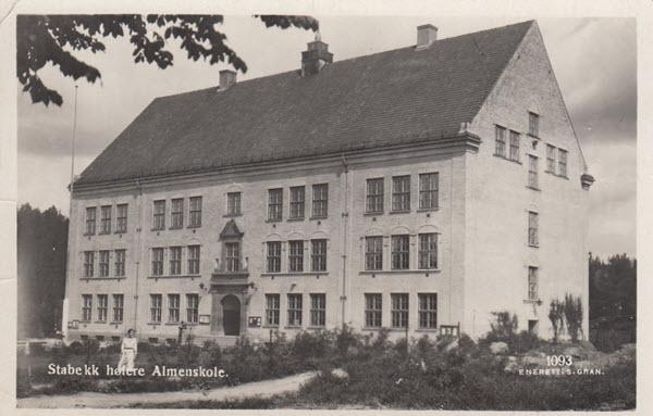 Stabekk høiere Almenskole.