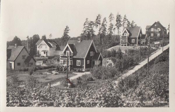 Fra Hartmannsvei. Lilleaker - Bærumsbanen