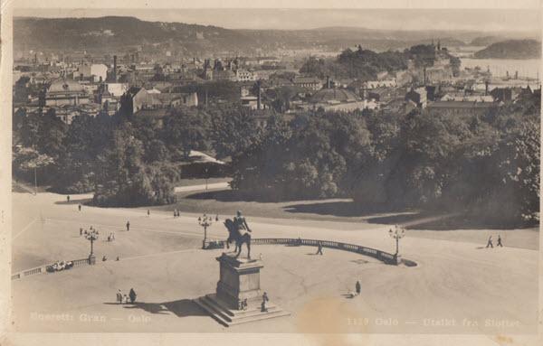 Oslo - Utsikt fra Slottet.