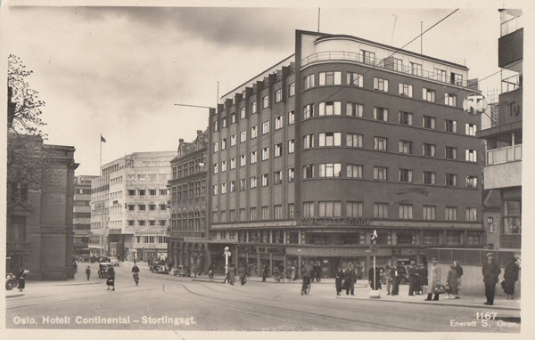 Oslo. Hotell Continental - Stortingsgt.