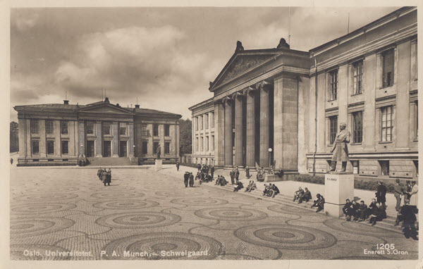 Oslo. Universitetet. P. A. Munch. Schweigaard.