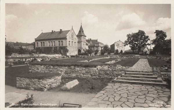 Oslo. Ruinparken Gamlebyen