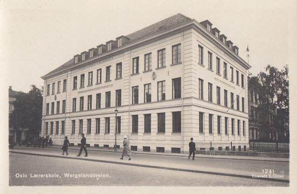 Oslo Lærerskole, Wergelandsveien.