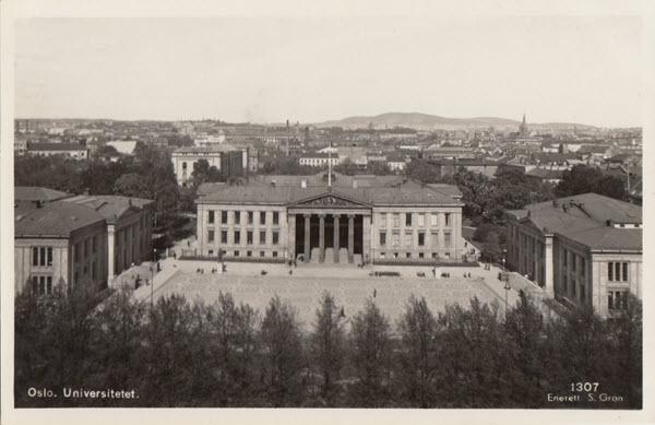 Oslo. Universitetet.[med hvit ramme]