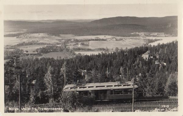 Norge. Utsikt fra Tryvannsbanen.