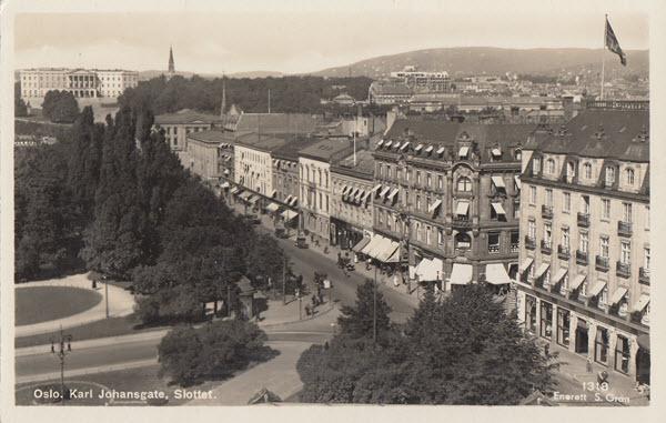 Oslo. Karl Johansgate, Slottet.