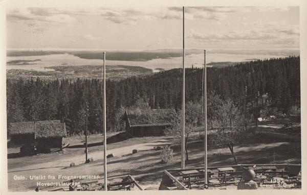 Oslo. Utsikt fra Frognersæteren Hovedrestaurant