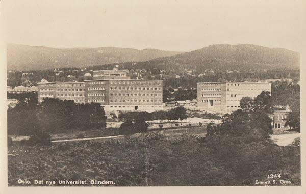 Oslo. Det nye Universitet. Blindern.