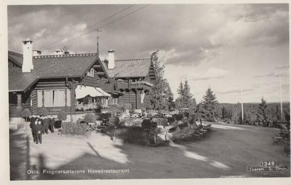 Oslo. Frognersæterens Hovedrestaurant