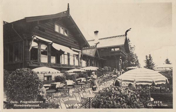 Oslo. Frognerseteren Hovedrestaurant