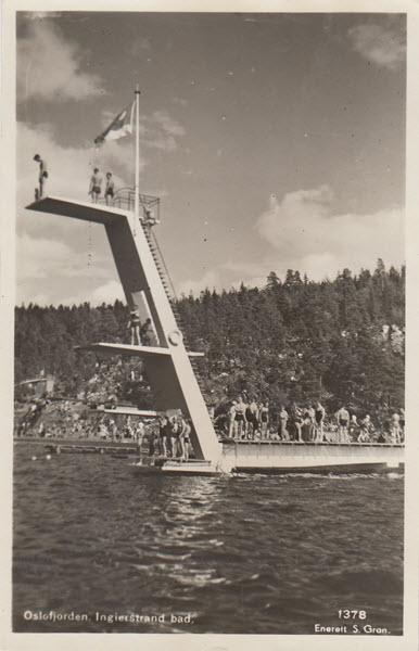 Oslofjorden. Ingierstrand bad.