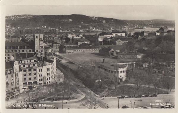 Oslo. Utsikt fra Rådhuset.