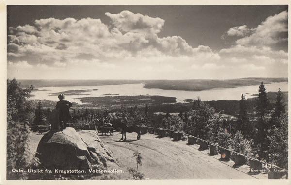 Oslo. Utsikt fra Kragstøtten, Voksenkollen