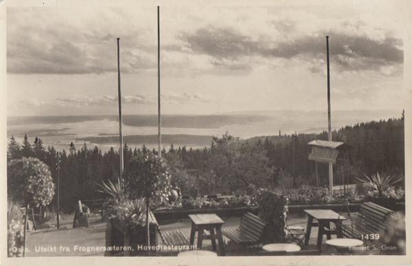Oslo. Utsikt fra Frognersæteren, Hovedrestaurant.