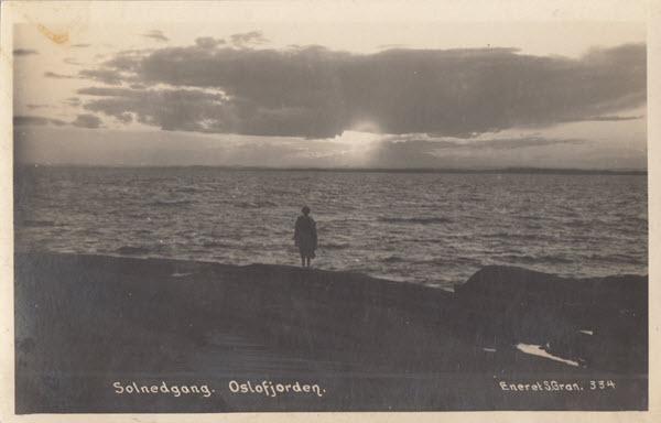 Solnedgang. Oslofjorden.