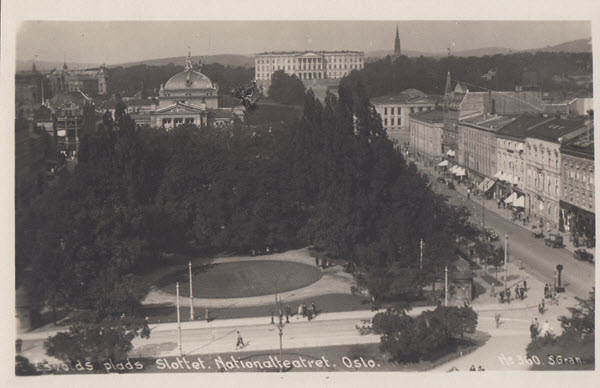 Eidsvolds plads. Slottet. Nationalteatret. Oslo.