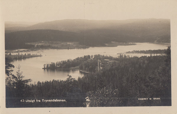 Utsigt fra Tryvandsbanen.