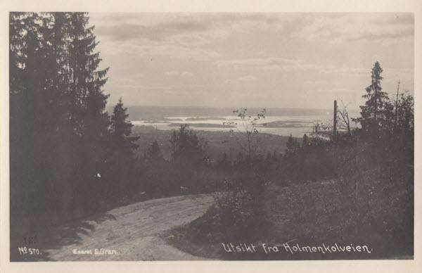 Utsikt fra Holmenkolveien.