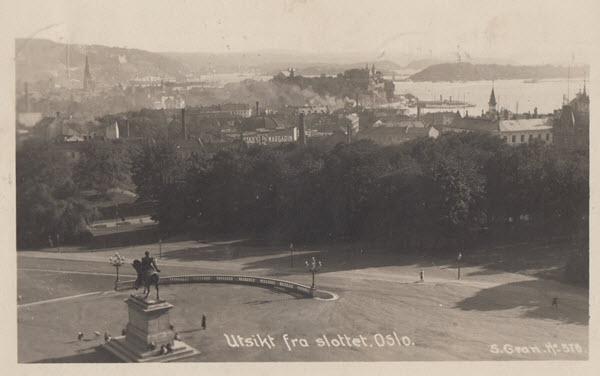 Utsikt fra slottet. Oslo.