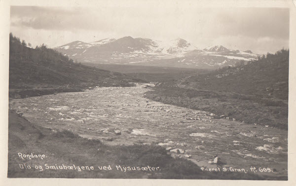 Rondane. Ula og Smiubælgene ved Mysusæter.