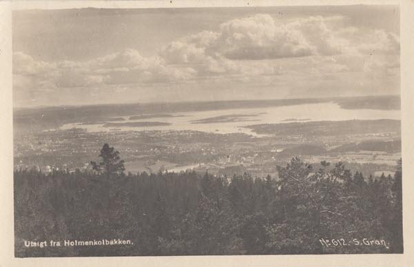 Utsikt fra Holmenkolbakken.