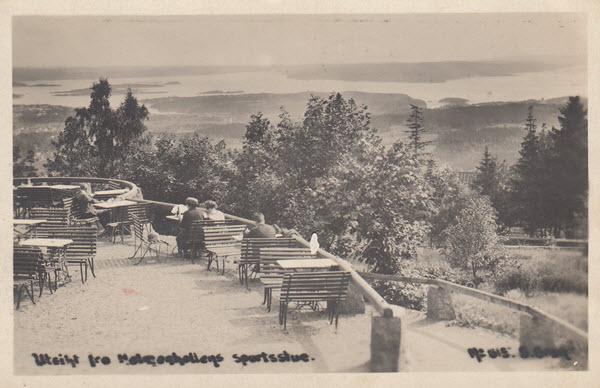 Utsikt fra Holmenkollens sportsstue.