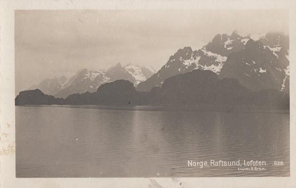 Norge. Raftsund, Lofoten.