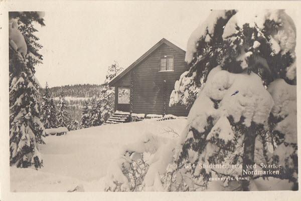 Studenterhytta ved Svartor, Nordmarken.