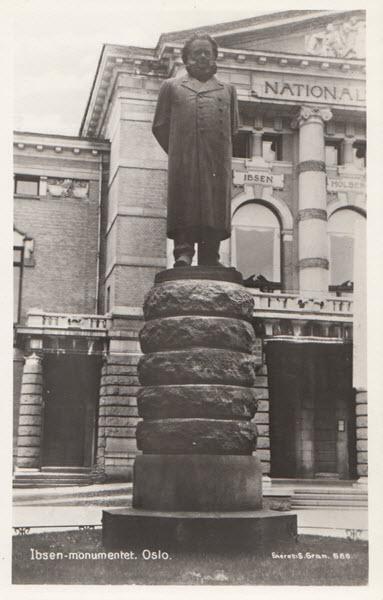 Ibsen-monumentet, Oslo.