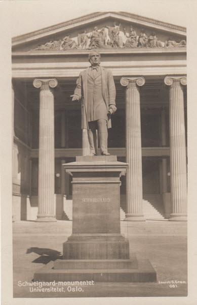 Schweigaard-monumentet Universitetet, Oslo.