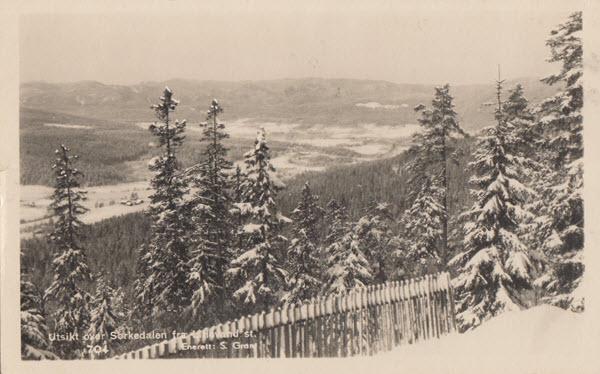 Utsikt fra Sørkedalen fra Lilevand st.