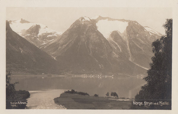 Norge. Stryn ved Hjelle.