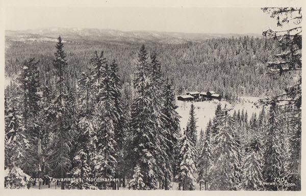 Norge. Tryvannstua, Nordmarken