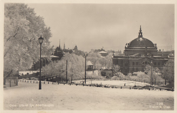Oslo. Utsikt fra Abelhaugen