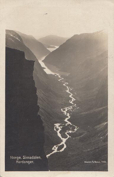 Norge. Simadalen. Hardanger.