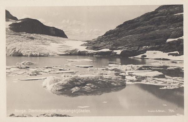 Norge. Dæmmevandet, Hardangerjökelen.