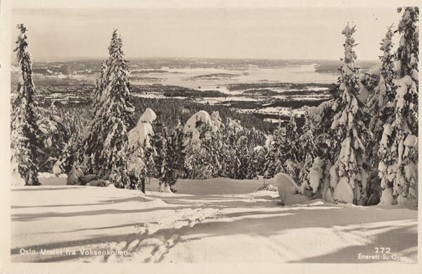 Oslo. Utsikt fra Voksenkollen