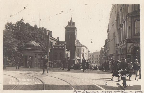 Brandvakten. Karl Johansgate, Oslo.