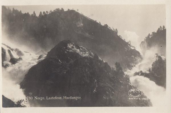 Norge. Laatefoss. Hardanger.