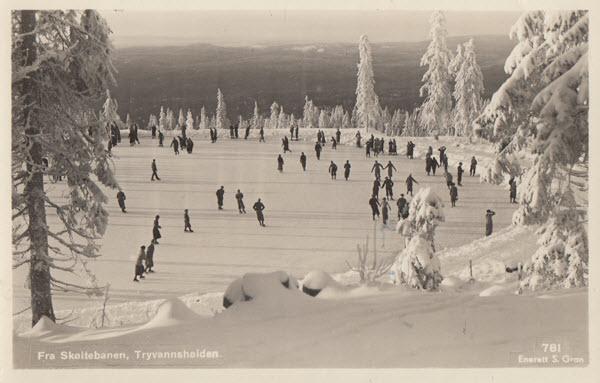Fra Skøitebanen Tryvannshøiden.