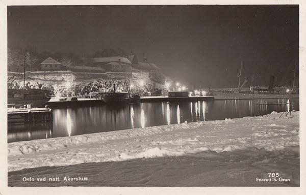 Oslo ved natt. Akershus