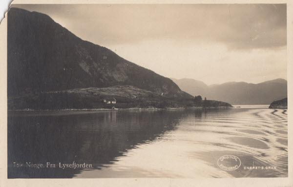 Norge. Fra Lysefjorden.