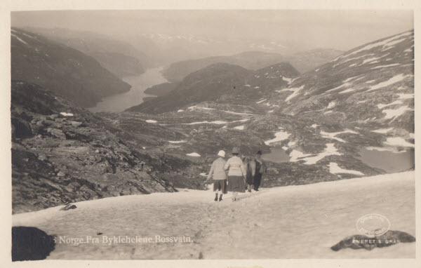 Norge. Fra Bykleheiene, Bossvatn.