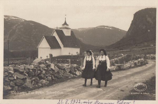 Norge. Fra Bykle, Setesdalen.