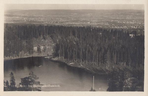 Utsikt fra Holmenkolbakken