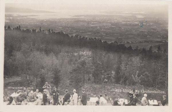 Utsikt fra Grefsenkollen.