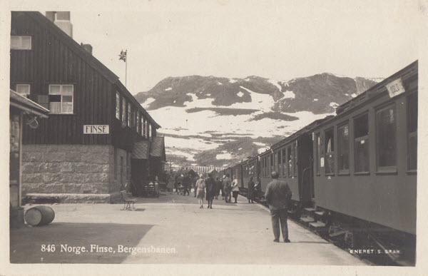 Norge. Finse. Bergensbanen.